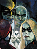 Moon Knight No6 Cover: Ms Marvel  Spider-Man  War Machine  Moon Knight  Luke Cage  and Wolverine