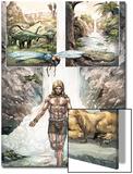 Ka-Zar No4: Panels with Ka-Zar and Zabu in front of a Waterfall