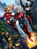 Ms Marvel No44 Group: Iron Patriot  Wolverine  Hawkeye  Ms Marvel and Spider-Man