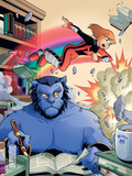 X-Men And Power Pack No2 Cover: Beast and Lightspeed