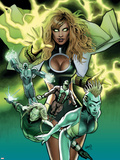Squadron Supreme No6 Cover: Arcanna  Amphibian and Dr Spectrum