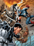 Battle Scars No2 Cover: Johnson  Daisy  Captain America  and Task Master in a Fight
