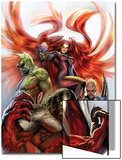 Secret Invasion: Inhumans No3 Cover: Medusa  Gorgon  Karnak and Triton