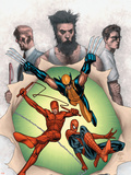 Powerless No6 Cover: Wolverine  Daredevil  Matt Murdock  Spider-Man  Peter Parker  Logan