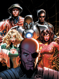Squadron Supreme No5 Cover: Nick Fury  Arcanna  Old Soldier  Biogeneral  Ruggles  Nell and Blur