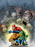 Marvel: Monsters On The Prowl No1 Cover: Thing  Hulk  Beast and Giant Man
