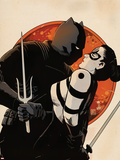 Black Panther: The Most Dangerous Man Alive No526: Black Panther Holding Lady Bullseye