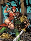 Herc No10 Cover: Elektra and Hercules Fighting