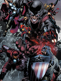 The Thanos Imperative No5: Captain America  Iron Man  Quasar  Thor  Giant Man  and Captain Marvel