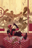 Thunderbolts 17 Cover: Deadpool  Red Hulk  Punisher  Venom  Elektra  Leader
