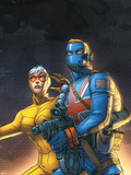 The New Invaders No5 Cover: Union Jack and Spitfire