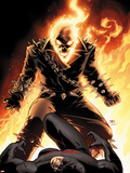 Shadowland No5 Cover: Ghost Rider and Daredevil Fighting