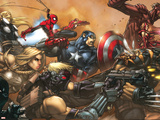 Ultimates No3 Cover: Captain America