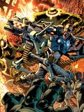 Ultimate Doom No1 Cover: Nick Fury Fighting