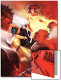Marvel Divas No4 Cover: Hellcat  Black Cat  Firestar and Photon