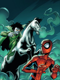Marvel Adventures Spider-Man No12 Cover: Spider-Man and Nightmare
