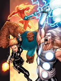 Ultimate Secret No4 Cover: Thor  Thing  Human Torch and Black Widow