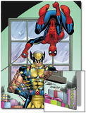 Marvel Holiday Special 2007 No1 Cover: Spider-Man and Wolverine