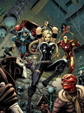 Fear Itself: The Fearless No6 Cover: Valkyrie  Iron Man  Captain America  Sin  and Crossbones