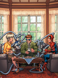 Marvel Adventures Spider-Man No33 Cover: Spider-Man  May Parker and Doctor Octopus Swinging