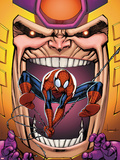 Marvel Adventures Spider-Man No23 Cover: Spider-Man and MODOK