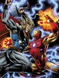 Iron Man/Thor No3: Thor and Iron Man Fighting