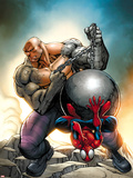 Marvel Adventures Spider-Man No24 Cover: Spider-Man and Absorbing Man