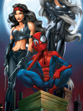 Ultimate Spider-Man No52 Cover: Spider-Man  Elektra and Black Cat