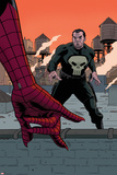 Avenging Spider-Man 22 Cover: Spider-Man  Punisher