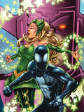 Spider-Man & The Secret Wars No3 Cover: Spider-Man  Enchantress and Galactus