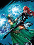 Black Widow & The Marvel Girls No2 Cover: Black Widow  Wasp and Dr Doom
