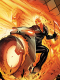 Venom No131 Cover: Ghost Rider Riding a Flaming Motorcycle