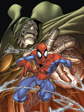 Marvel Age Spider-Man No4 Cover: Spider-Man and Dr Doom