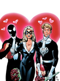 Spider-Man/Human Torch No4 Cover: the Human Torch Johnny Storm  Spider-Man and Black Cat