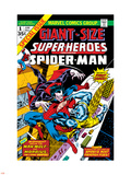 Giant-Size Super-Heroes No1 Cover: Spider-Man  Morbius and Man-Wolf Fighting