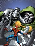 Marvel Adventures Spider-Man No9 Cover: Spider-Man and Dr Doom