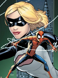 Marvel Adventures Spider-Man No8 Cover: Spider-Man and Emma Frost Posing