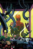 Superior Spider-Man Team-Up 5 Cover: Spider-Man  Vulture  Electro  Sandman  Green Goblin  Kingpin