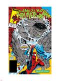 Amazing Spider-Man No328 Cover: Hulk and Spider-Man Crouching