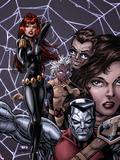 X-Men Forever No12 Cover: Black Widow  Colossus and Storm
