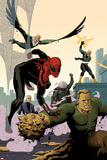 Superior Spider-Man Team-Up 6 Cover: Spider-Man  Vulture  Electro  Mysterio  Chameleon  Sandman