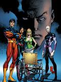 X-Men: Deadly Genesis No4 Cover: Professor X and Vulcan Fighting