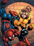 Marvel Age Spider-Man Team Up No3 Cover: Spider-Man and Shadowcat