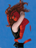Amazing Spider-Man No641 Cover: Spider-Man and Mary Jane Watson Hugging