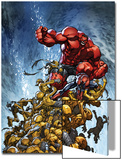 Avenging Spider-Man No2 Cover: Spider-Man and Red Hulk Fighting Moloids