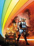 Thor: Whosoever Wields This Hammer No1 Cover: Thor near the Rainbow Bridge