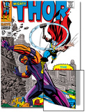 Thor No140 Cover: Thor and Growing Man Fighting