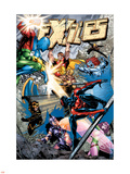 Exiles No77 Cover: Spider-Man  Morph  Hyperion  Blink  Zarda  Whizzer and Dr Spectrum