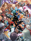New X-Men No22 Cover: X-23  Hellion  Rockslide  Dust  Surge and Mercury