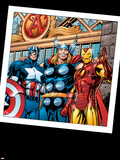 Thor No73 Group: Thor  Iron Man and Captain America